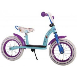 Disney Frozen metalen loopfiets met luchtbanden Mint Blue